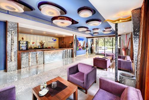 Lounge alebo bar v ubytovaní Wellness Hotel Chopok