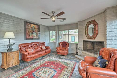 A seating area at Quiet Boho House with Red Rocks Views, Walk to Trails