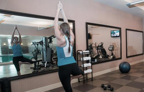 The fitness center and/or fitness facilities at Hotel Julien Dubuque