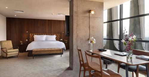 Cama ou camas em um quarto em Tivoli Mofarrej São Paulo