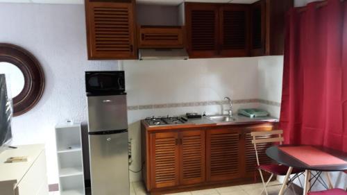 A cozinha ou cozinha compacta de Studio TAHITI FAA'A