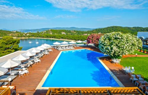 A view of the pool at Skiathos Palace Hotel or nearby