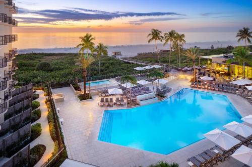 A view of the pool at Hilton Marco Island Beach Resort and Spa or nearby