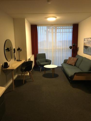 A seating area at Skaga Hotel