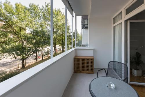 A balcony or terrace at Apartments Zagreb Point - Centar
