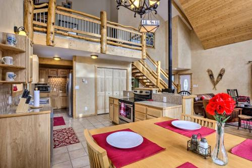 A kitchen or kitchenette at Scenic Mountain Cabin on 4 Wooded Acres and Hot Tub!