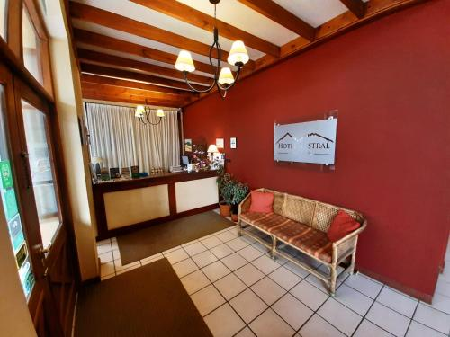 A seating area at Hotel Austral Ushuaia