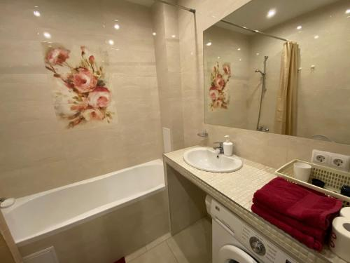 Ванная комната в Апартаменты в центре Светлогорска 2