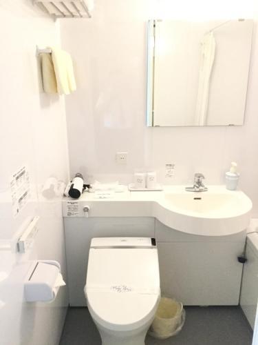 A bathroom at Hotel Marine World
