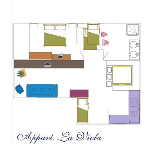 The floor plan of Chalet Garden