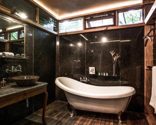 A bathroom at The Machan