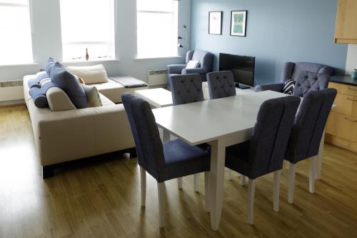 Area soggiorno di Hildibrand Apartment Hotel