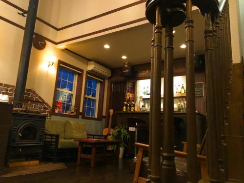 The lobby or reception area at IZA Kamakura Guest House and Bar