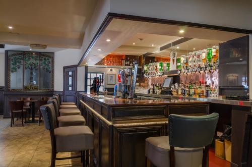 The lounge or bar area at Thrums Hotel, Kirriemuir