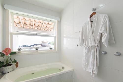 A bathroom at Pousada Aroma do Mar