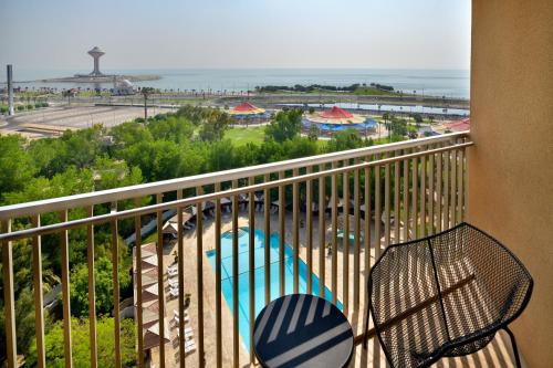 A view of the pool at Le Meridien Al Khobar or nearby
