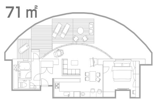 The floor plan of Hotel Alps (Adult Only)