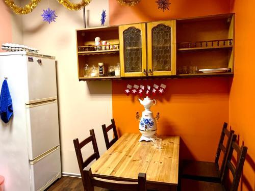 A kitchen or kitchenette at Квартира у КРЕМЛЯ