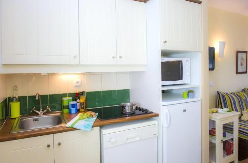 A kitchen or kitchenette at Les Belles Rives 2p 5