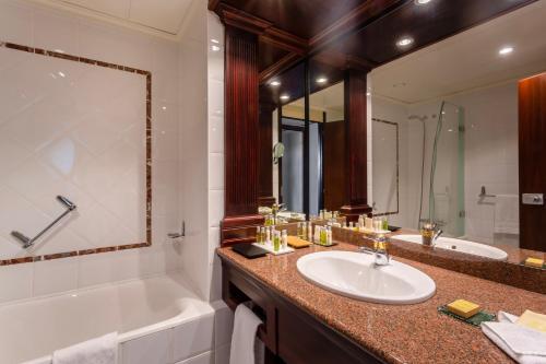 A bathroom at Hilton Strasbourg