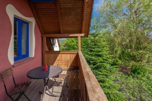 Ein Balkon oder eine Terrasse in der Unterkunft Ferienhof Arkadia