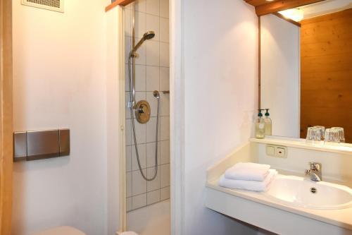A bathroom at Alps Hostel