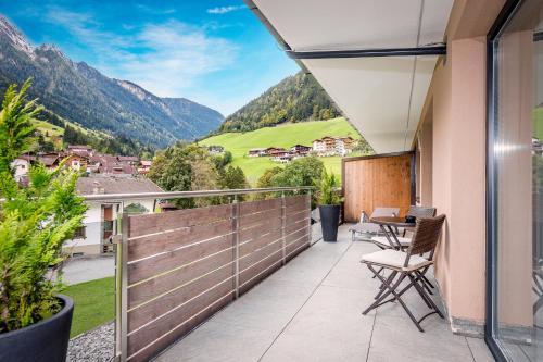 Ein Balkon oder eine Terrasse in der Unterkunft Mountain Resort M&M