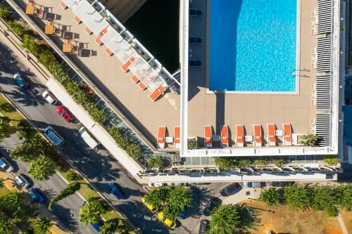 A view of the pool at Divani Caravel or nearby