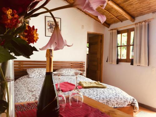 Cama o camas de una habitación en La Selenita