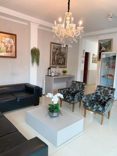 The lobby or reception area at Hotel Vitoria
