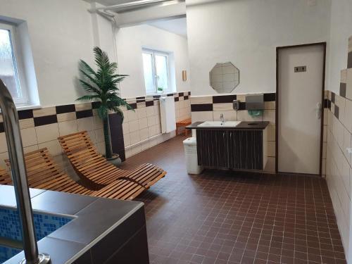 Кухня или мини-кухня в Penzion Starr