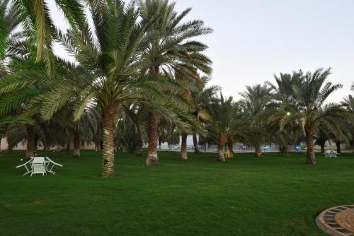 Um jardim em Gina Alkhalil Chalets