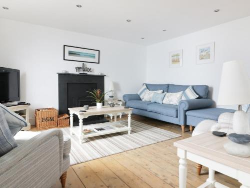 A seating area at 4 Coastguard Cottages