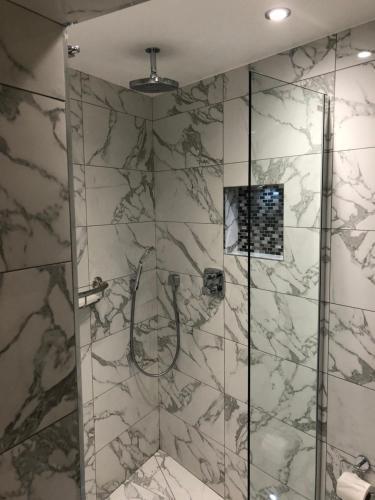 A bathroom at St Paul's Hotel