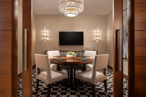 A television and/or entertainment center at The Ritz-Carlton, Los Angeles L.A. Live