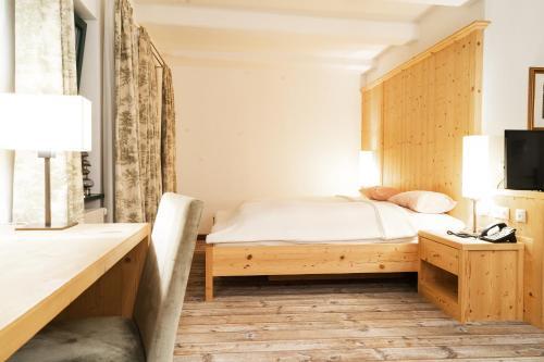 Ein Bett oder Betten in einem Zimmer der Unterkunft Forsthaus Wörnbrunn