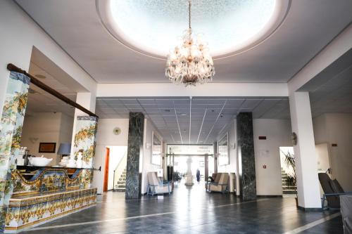 The lobby or reception area at Saint Joseph