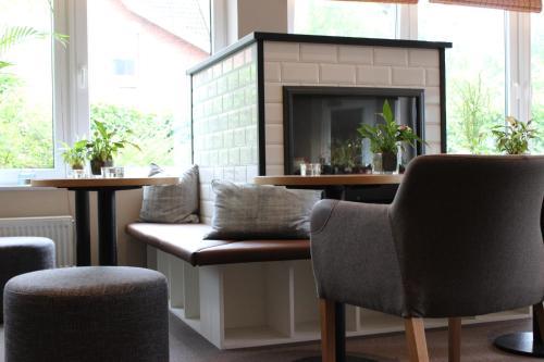 Ein Sitzbereich in der Unterkunft BE BIO Hotel be active