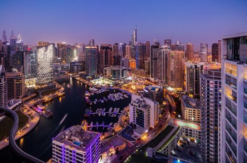 Wyndham Dubai Marina a vista de pájaro