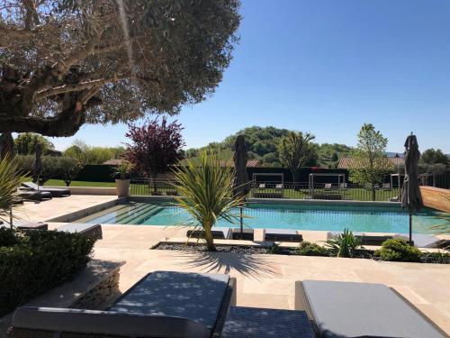 The swimming pool at or near La Bastide Saint Georges & Spa