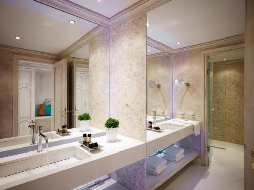 A bathroom at Mitsis Laguna Resort & Spa