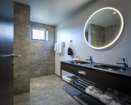 Salle de bains dans l'établissement Fosshotel Glacier Lagoon