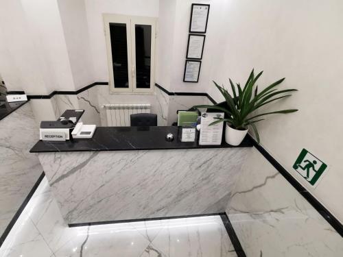 Кухня или мини-кухня в Hotel Valentino Palace