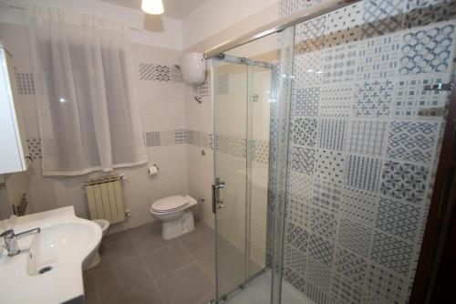 A bathroom at AceroRosso B&B