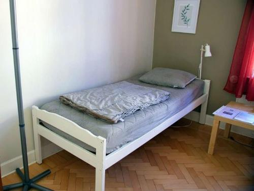 Säng eller sängar i ett rum på Hostel Trollhättan