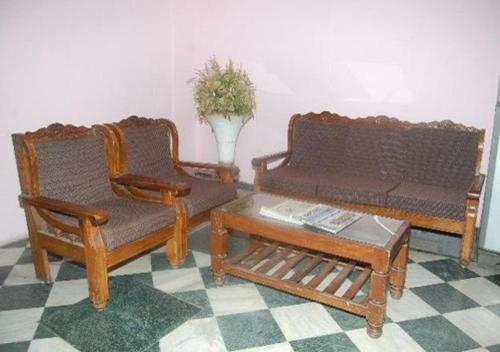A seating area at Hotel Sita kunj
