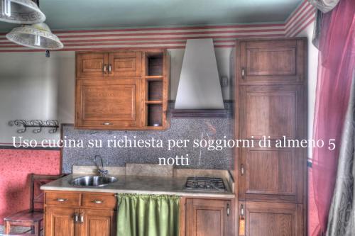 Cucina o angolo cottura di B&B Qui Dormì L'Etrusco