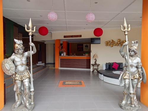 The lobby or reception area at Arra Lembah Pinus Ciloto