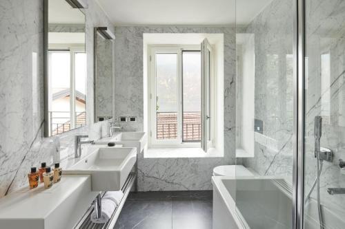 Een badkamer bij Hotel Belvedere