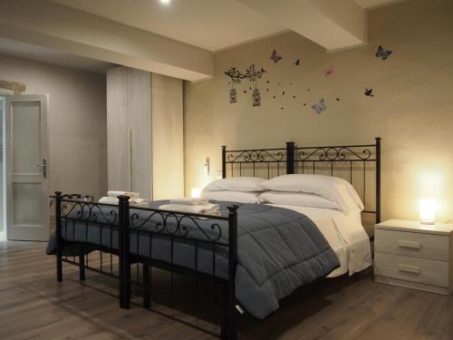 Кровать или кровати в номере Hotel Santa Croce